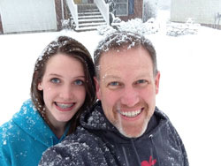 Blacksburg got walloped with a nine-inch snow on January 17. My daughter Adelyn and I ran outside for a quick snow selfie.